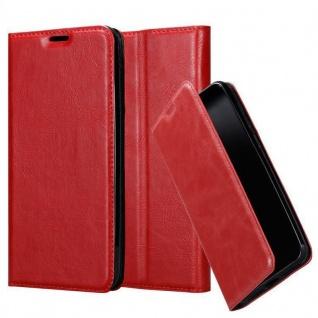 Cadorabo Hülle für Xiaomi Mi 8 PRO in APFEL ROT - Handyhülle mit Magnetverschluss, Standfunktion und Kartenfach - Case Cover Schutzhülle Etui Tasche Book Klapp Style