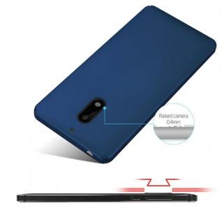 Cadorabo Hülle für Nokia 6 2017 in METALL BLAU ? Hardcase Handyhülle aus Plastik gegen Kratzer und Stöße ? Schutzhülle Bumper Ultra Slim Back Case Hard Cover - Vorschau 4