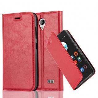 Cadorabo Hülle für ZTE BLADE A520 in APFEL ROT Handyhülle mit Magnetverschluss, Standfunktion und Kartenfach Case Cover Schutzhülle Etui Tasche Book Klapp Style