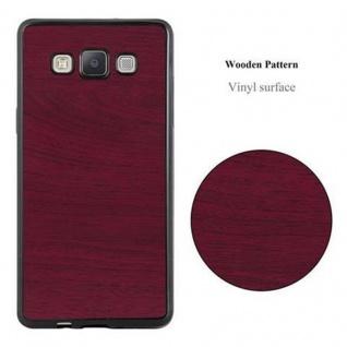 Cadorabo Hülle für Samsung Galaxy A5 2015 in WOODEN ROT - Handyhülle aus flexiblem TPU Silikon - Silikonhülle Schutzhülle Ultra Slim Soft Back Cover Case Bumper - Vorschau 2
