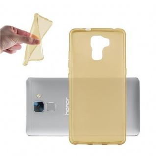 Cadorabo Hülle für Honor 7 in TRANSPARENT GOLD - Handyhülle aus flexiblem TPU Silikon - Silikonhülle Schutzhülle Ultra Slim Soft Back Cover Case Bumper