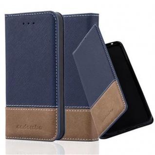 Cadorabo Hülle für Apple iPhone 5 / iPhone 5S / iPhone SE in DUNKEL BLAU BRAUN ? Handyhülle mit Magnetverschluss, Standfunktion und Kartenfach ? Case Cover Schutzhülle Etui Tasche Book Klapp Style