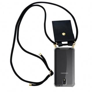 Cadorabo Handy Kette für Samsung Galaxy NOTE 3 in SCHWARZ ? Silikon Necklace Umhänge Hülle mit Gold Ringen, Kordel Band Schnur und abnehmbarem Etui ? Schutzhülle