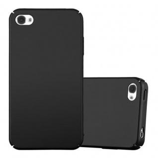 Cadorabo Hülle für Apple iPhone 4 / iPhone 4S in METALL SCHWARZ - Hardcase Handyhülle aus Plastik gegen Kratzer und Stöße - Schutzhülle Bumper Ultra Slim Back Case Hard Cover