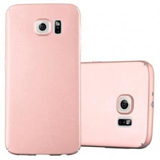 Cadorabo Hülle für Samsung Galaxy S6 in METALL ROSE GOLD ? Hardcase Handyhülle aus Plastik gegen Kratzer und Stöße ? Schutzhülle Bumper Ultra Slim Back Case Hard Cover