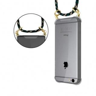 Cadorabo Handy Kette für Apple iPhone 6 PLUS / iPhone 6S PLUS in CAMOUFLAGE ? Silikon Necklace Umhänge Hülle mit Gold Ringen, Kordel Band Schnur und abnehmbarem Etui ? Schutzhülle - Vorschau 4