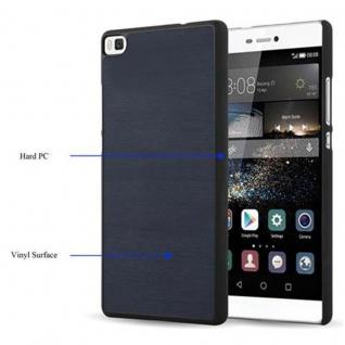 Cadorabo Hülle für Huawei P8 in WOODY BLAU - Hardcase Handyhülle aus Plastik gegen Kratzer und Stöße - Schutzhülle Bumper Ultra Slim Back Case Hard Cover - Vorschau 3