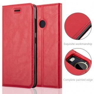 Cadorabo Hülle für HTC Desire 10 PRO in APFEL ROT - Handyhülle mit Magnetverschluss, Standfunktion und Kartenfach - Case Cover Schutzhülle Etui Tasche Book Klapp Style - Vorschau 2