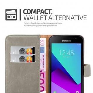 Cadorabo Hülle für Samsung Galaxy Xcover 4 in CAPPUCCINO BRAUN ? Handyhülle mit Magnetverschluss, Standfunktion und Kartenfach ? Case Cover Schutzhülle Etui Tasche Book Klapp Style - Vorschau 4