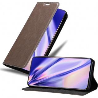 Cadorabo Hülle für Samsung Galaxy A80 / A90 in KAFFEE BRAUN Handyhülle mit Magnetverschluss, Standfunktion und Kartenfach Case Cover Schutzhülle Etui Tasche Book Klapp Style