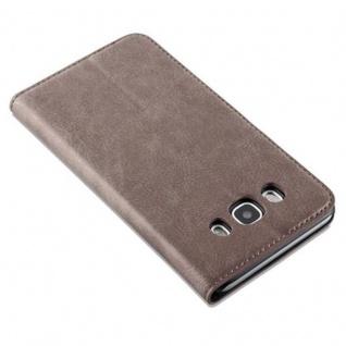 Cadorabo Hülle für Samsung Galaxy J5 2016 in KAFFEE BRAUN - Handyhülle mit Magnetverschluss, Standfunktion und Kartenfach - Case Cover Schutzhülle Etui Tasche Book Klapp Style - Vorschau 5