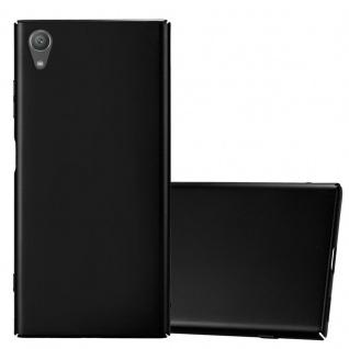 Cadorabo Hülle für Sony Xperia XA1 PLUS in METALL SCHWARZ - Hardcase Handyhülle aus Plastik gegen Kratzer und Stöße - Schutzhülle Bumper Ultra Slim Back Case Hard Cover