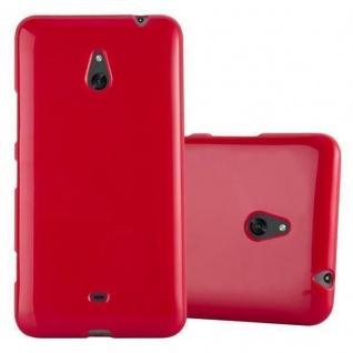 Cadorabo Hülle für Nokia Lumia 1320 in JELLY ROT ? Handyhülle aus flexiblem TPU Silikon ? Silikonhülle Schutzhülle Ultra Slim Soft Back Cover Case Bumper