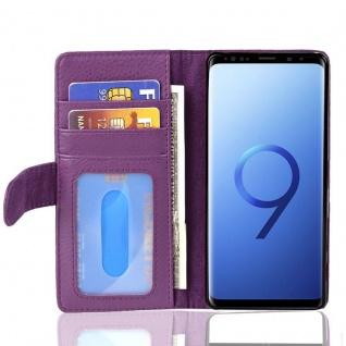 Cadorabo Hülle für Samsung Galaxy S9 in BORDEAUX LILA ? Handyhülle mit Magnetverschluss und 3 Kartenfächern ? Case Cover Schutzhülle Etui Tasche Book Klapp Style