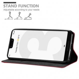 Cadorabo Hülle für Google Pixel 3 in APFEL ROT Handyhülle mit Magnetverschluss, Standfunktion und Kartenfach Case Cover Schutzhülle Etui Tasche Book Klapp Style - Vorschau 4