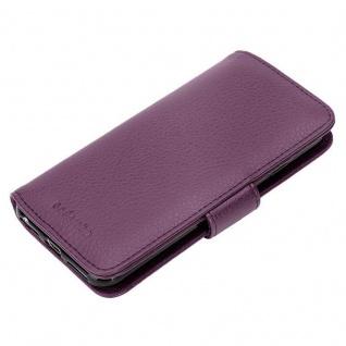 Cadorabo Hülle für Apple iPhone X / XS in BORDEAUX LILA ? Handyhülle mit Magnetverschluss und 3 Kartenfächern ? Case Cover Schutzhülle Etui Tasche Book Klapp Style - Vorschau 4