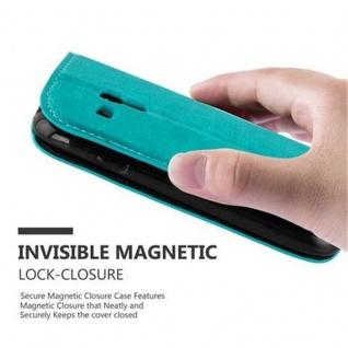 Cadorabo Hülle für Samsung Galaxy S3 MINI in PETROL TÜRKIS - Handyhülle mit Magnetverschluss, Standfunktion und Kartenfach - Case Cover Schutzhülle Etui Tasche Book Klapp Style - Vorschau 5