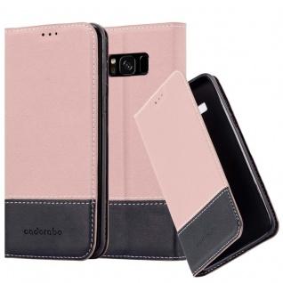Cadorabo Hülle für Samsung Galaxy S8 PLUS in GOLD SCHWARZ Handyhülle mit Magnetverschluss, Standfunktion und Kartenfach Case Cover Schutzhülle Etui Tasche Book Klapp Style