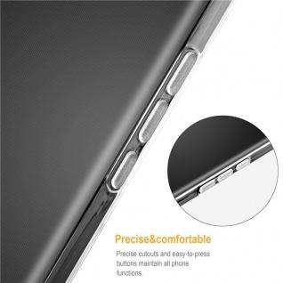 Cadorabo Hülle für Samsung Galaxy J4 PLUS in VOLL TRANSPARENT - Handyhülle aus flexiblem TPU Silikon - Silikonhülle Schutzhülle Ultra Slim Soft Back Cover Case Bumper - Vorschau 3