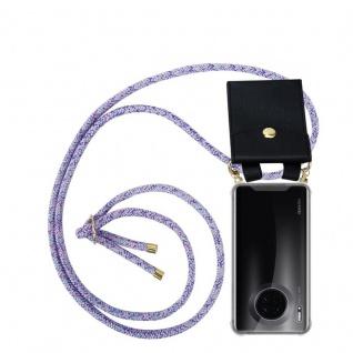 Cadorabo Handy Kette für Huawei MATE 30 in UNICORN Silikon Necklace Umhänge Hülle mit Gold Ringen, Kordel Band Schnur und abnehmbarem Etui Schutzhülle