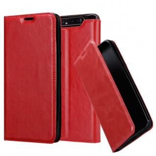 Cadorabo Hülle für Samsung Galaxy A80 in APFEL ROT - Handyhülle mit Magnetverschluss, Standfunktion und Kartenfach - Case Cover Schutzhülle Etui Tasche Book Klapp Style
