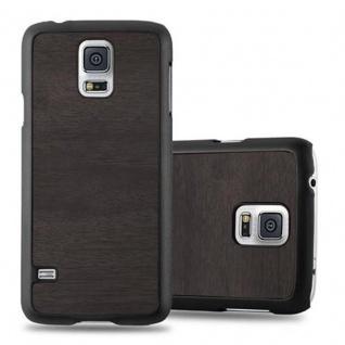 Cadorabo Hülle für Samsung Galaxy S5 MINI / S5 MINI DUOS in WOODY SCHWARZ ? Hardcase Handyhülle aus Plastik gegen Kratzer und Stöße ? Schutzhülle Bumper Ultra Slim Back Case Hard Cover