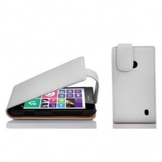 Cadorabo Hülle für Nokia Lumia 630 / 635 in MAGNESIUM WEIß Handyhülle im Flip Design aus strukturiertem Kunstleder Case Cover Schutzhülle Etui Tasche Book Klapp Style