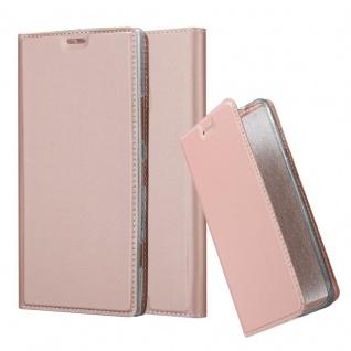 Cadorabo Hülle für Nokia Lumia 1520 in CLASSY ROSÉ GOLD - Handyhülle mit Magnetverschluss, Standfunktion und Kartenfach - Case Cover Schutzhülle Etui Tasche Book Klapp Style
