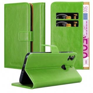 Cadorabo Hülle für HTC Desire 10 PRO in GRAS GRÜN ? Handyhülle mit Magnetverschluss, Standfunktion und Kartenfach ? Case Cover Schutzhülle Etui Tasche Book Klapp Style