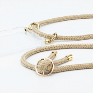 Cadorabo Handy Kette für Honor 20e in GLÄNZEND BRAUN Silikon Necklace Umhänge Hülle mit Gold Ringen, Kordel Band Schnur und abnehmbarem Etui Schutzhülle - Vorschau 2