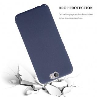 Cadorabo Hülle für HTC One A9 in FROSTY BLAU - Hardcase Handyhülle aus Plastik gegen Kratzer und Stöße - Schutzhülle Bumper Ultra Slim Back Case Hard Cover - Vorschau 4