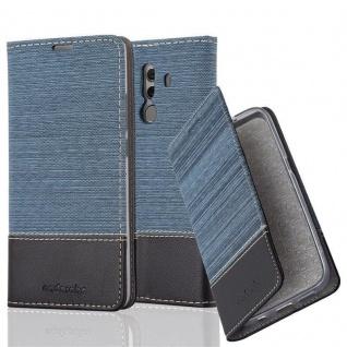 Cadorabo Hülle für Huawei MATE 10 PRO in DUNKEL BLAU SCHWARZ - Handyhülle mit Magnetverschluss, Standfunktion und Kartenfach - Case Cover Schutzhülle Etui Tasche Book Klapp Style