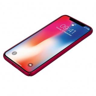 Cadorabo Hülle für Apple iPhone X / XS in METALL ROT ? Hardcase Handyhülle aus Plastik gegen Kratzer und Stöße ? Schutzhülle Bumper Ultra Slim Back Case Hard Cover - Vorschau 3
