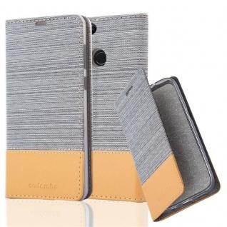 Cadorabo Hülle für Honor 7X in HELL GRAU BRAUN - Handyhülle mit Magnetverschluss, Standfunktion und Kartenfach - Case Cover Schutzhülle Etui Tasche Book Klapp Style