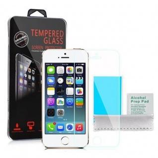 Cadorabo ! PREMIUM - Screen Protector Tempered Glass Hartglas Schutzfolie für iPhone 5, 5s, 5c Display Schutzglas 0, 3mm abgerundete Ecken - transparent