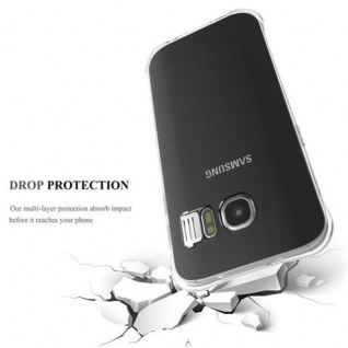 Cadorabo Hülle für Samsung Galaxy S7 - Hülle in STAR TRANSPARENT - Handyhülle aus TPU Silikon im LED-Blitzlicht-Design - Silikonhülle Schutzhülle Ultra Slim Soft Back Cover Case Bumper - Vorschau 4