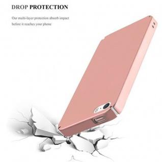 Cadorabo Hülle für Apple iPhone 5 / iPhone 5S / iPhone SE in METALL ROSE GOLD - Hardcase Handyhülle aus Plastik gegen Kratzer und Stöße - Schutzhülle Bumper Ultra Slim Back Case Hard Cover - Vorschau 5