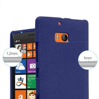 Cadorabo Hülle für Nokia Lumia 929 / 930 in FROST DUNKEL BLAU - Handyhülle aus flexiblem TPU Silikon - Silikonhülle Schutzhülle Ultra Slim Soft Back Cover Case Bumper - Vorschau 5