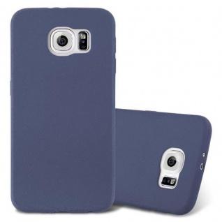 Cadorabo Hülle für Samsung Galaxy S6 in FROST DUNKEL BLAU - Handyhülle aus flexiblem TPU Silikon - Silikonhülle Schutzhülle Ultra Slim Soft Back Cover Case Bumper