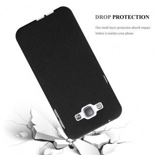 Cadorabo Hülle für Samsung Galaxy A8 2015 in FROST SCHWARZ - Handyhülle aus flexiblem TPU Silikon - Silikonhülle Schutzhülle Ultra Slim Soft Back Cover Case Bumper - Vorschau 4