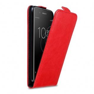 Cadorabo Hülle für Sony Xperia XA1 PLUS in APFEL ROT Handyhülle im Flip Design mit Magnetverschluss Case Cover Schutzhülle Etui Tasche Book Klapp Style