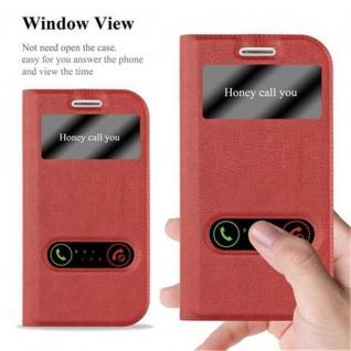 Cadorabo Hülle für Samsung Galaxy S3 / S3 NEO in SAFRAN ROT ? Handyhülle mit Magnetverschluss, Standfunktion und 2 Sichtfenstern ? Case Cover Schutzhülle Etui Tasche Book Klapp Style - Vorschau 2