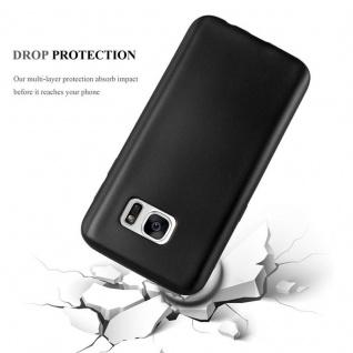 Cadorabo Hülle für Samsung Galaxy S7 in METALLIC SCHWARZ - Handyhülle aus flexiblem TPU Silikon - Silikonhülle Schutzhülle Ultra Slim Soft Back Cover Case Bumper - Vorschau 4