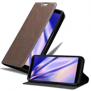 Cadorabo Hülle für WIKO VIEW MAX in KAFFEE BRAUN Handyhülle mit Magnetverschluss, Standfunktion und Kartenfach Case Cover Schutzhülle Etui Tasche Book Klapp Style