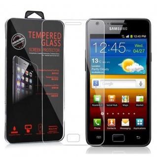 Cadorabo Panzerglas für Samsung Galaxy S2 / S2 PLUS - Schutzfolie in KRISTALL KLAR ? Gehärtetes (Tempered) Display-Schutzglas in 9H Härte mit 3D Touch Kompatibilität