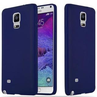 Cadorabo Hülle für Samsung Galaxy NOTE 4 in CANDY DUNKEL BLAU - Handyhülle aus flexiblem TPU Silikon - Silikonhülle Schutzhülle Ultra Slim Soft Back Cover Case Bumper