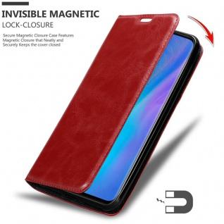 Cadorabo Hülle für Huawei P30 PRO in APFEL ROT Handyhülle mit Magnetverschluss, Standfunktion und Kartenfach Case Cover Schutzhülle Etui Tasche Book Klapp Style - Vorschau 3