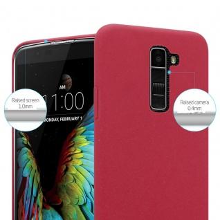 Cadorabo Hülle für LG K10 2016 in FROSTY ROT - Hardcase Handyhülle aus Plastik gegen Kratzer und Stöße - Schutzhülle Bumper Ultra Slim Back Case Hard Cover - Vorschau 3