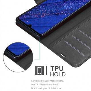 Cadorabo Hülle für Huawei MATE 20 in PHANTOM SCHWARZ - Handyhülle mit Magnetverschluss, Standfunktion und Kartenfach - Case Cover Schutzhülle Etui Tasche Book Klapp Style - Vorschau 3