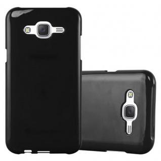 Cadorabo Hülle für Samsung Galaxy J5 2015 in JELLY SCHWARZ - Handyhülle aus flexiblem TPU Silikon - Silikonhülle Schutzhülle Ultra Slim Soft Back Cover Case Bumper - Vorschau 1